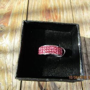 Jewelry - New Pink stainless steel ring sz 7
